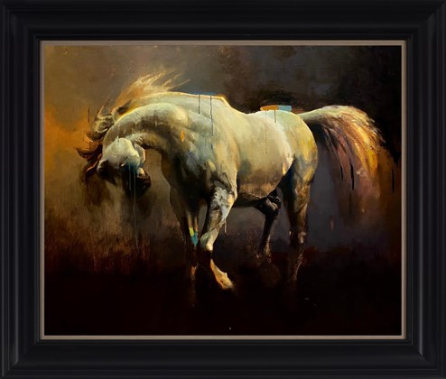 Arabian I by Christian Hook - Framed Stretched Canvas