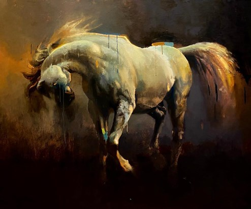 Arabian I by Christian Hook - Stretched Canvas